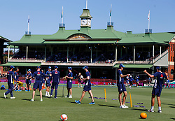England warm up during day four of the Ashes Test match at Sydney Cricket Ground.