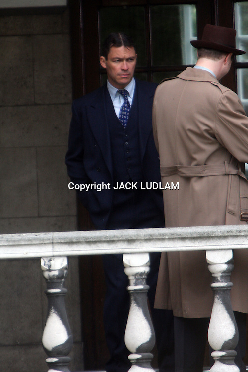 "DOMINIC WEST OF  HBO'S ""THE WIRE""  ON SET IN LONDON SHOOTING  ""THE MOULD IN DR FLOREYS COAT""  THE STORY OF THE PENICILLIN MIRICLE  BBC DRAMA  PICS JACK LUDLAM High Quality Prints please enquire via contact Page. Rights Managed Downloads available for Press and Media"