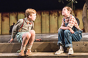 &copy; Tony Nandi. 25/06/2015.  Following two hugely successful runs at Regent&rsquo;s Park Open Air Theatre and a UK and Ireland Tour, To Kill a Mockingbird returns to London from 24 June until 25 July 2015 at the Barbican.<br /> <br /> Robert Sean Leonard will reprise the role of Atticus Finch exclusively at the Barbican. Robert Sean Leonard is a Tony Award-winning American actor and is best known for playing Dr. James Wilson in the Fox television series House and Neil Perry in the 1989 movie Dead Poets Society.<br /> Directed by Timothy Sheader.<br /> Photocall featured Robert Sean Leonard as Atticus Finch and Ava Potter as Scout.<br /> Photo credit: Tony Nandi
