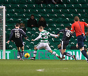 Dundee&rsquo;s Paul McGinn and Julen Etxabeguren deny Celtic's Leigh Griffiths  - Celtic v Dundee - Ladbrokes Scottish Premiership at Dens Park<br /> <br />  - &copy; David Young - www.davidyoungphoto.co.uk - email: davidyoungphoto@gmail.com