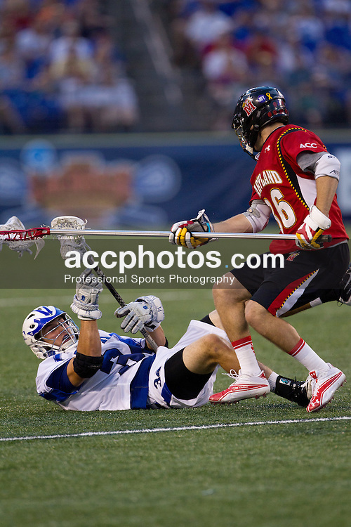 BALTIMORE, MD - MAY 28: Greg DeLuca #34 of the Duke Blue Devils while playing the Maryland Terrapins at M&T Bank Stadium on May 28, 2011 in Baltimore, Maryland.  Maryland defeated Duke 9-4.