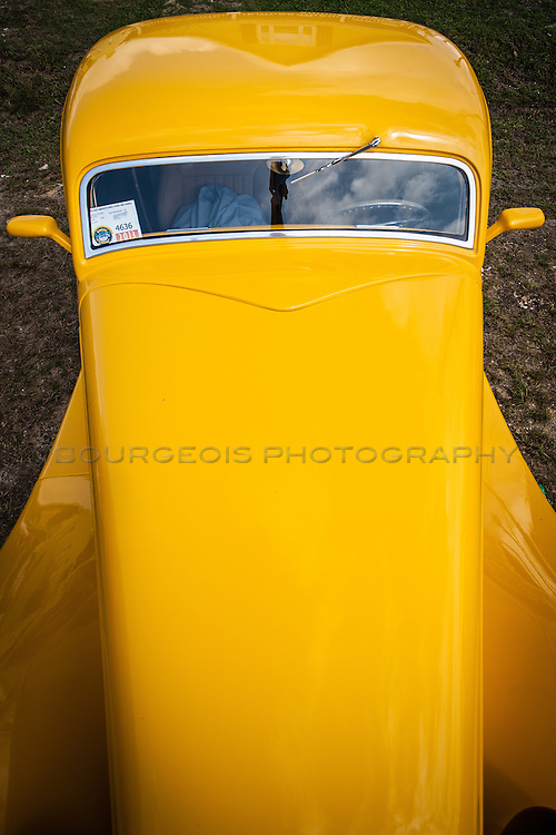 long nosed yellow car