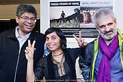 """""""Népal - Arrêt sur image"""". Un an après le tremblement de terre. Exposition des photographies de Kiran Ambwani et Benoit Aquin et des textes de l'auteur Stanley Péan, ambassadeur du CECI - Centre d'étude et de coopération internationale. Du 12 mai au 17 juin 2016 à  Le Gesù, 1202, rue de Bleury / Montreal / Canada / 2016-05-17, Photo © Marc Gibert / adecom.ca"""