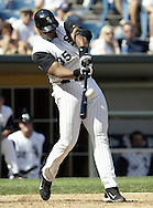CHICAGO - 2004:  Frank Thomas of the Chicago White Sox bats during an MLB game at U.S. Cellular Field in Chicago, Illinois.  Thomas played for the White Sox from 1990-2005. (Photo by Ron Vesely)