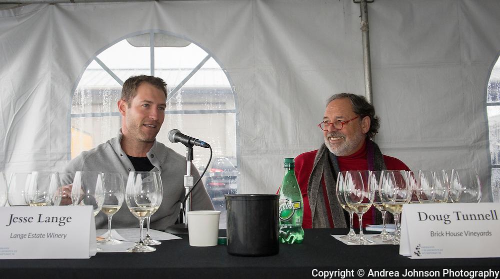 Jesse Lange  of Lange Estate Winery & Doug Tunnell of Brick House Vineyards, 3rd annual Oregon Chardonnay Symposium, Stoller Vineyards, Dundee Hills, Oregon