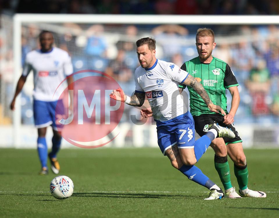 Chris Maguire of Bury (C) in action - Mandatory by-line: Jack Phillips/JMP - 02/09/2017 - FOOTBALL - Gigg Lane - Bury, England - Bury v Scunthorpe United - English Football League One