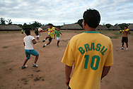 Xingu indians in brazil are playing football