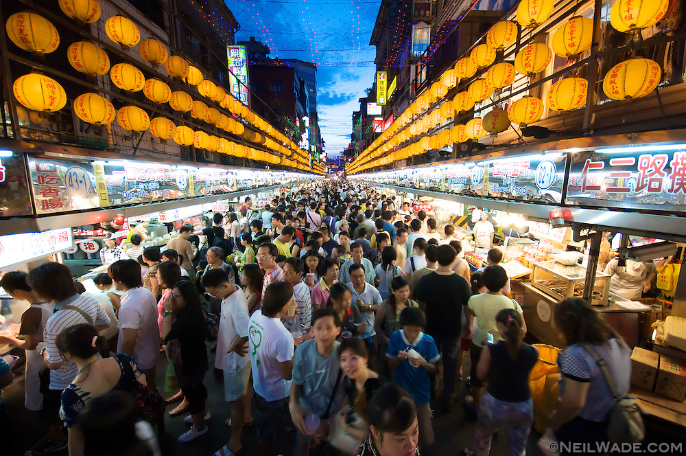 Keelung's Miakou Night Market is considered one of the best in Taiwan.  Known mostly for its huge variety of snacks, this night market is also know to have visitor-friendly English menus.