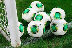 Balls during football match between FC Luka Koper and NK Maribor in 12th Round of Prva liga Telekom Slovenije 2013/14 on September 28, 2013 in Stadium Bonifika, Koper, Slovenia. (Photo by Vid Ponikvar / Sportida.com)