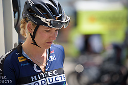 Ilona Hoeksma prepares for Stage 8 of the Giro Rosa - a 141.8 km road race, between Baronissi and Centola fraz. Palinuro on July 7, 2017, in Salerno, Italy. (Photo by Sean Robinson/Velofocus.com)