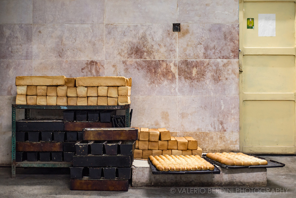 Freshly prepared toast bread and buns in a bakery in Trinidad. Cuba, 2015.