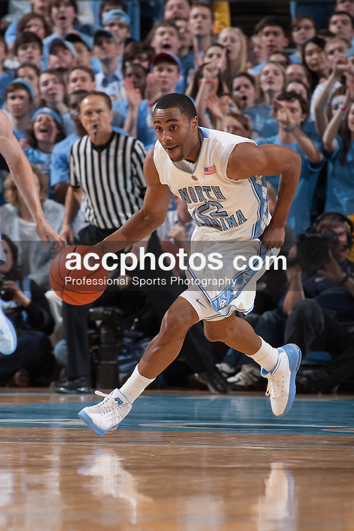 22 January 2009: North Carolina Tar Heels guard Wayne Ellington (22) during a 82-65 win over the Clemson Tigers at the Dean Smith Center in Chapel Hill, NC.