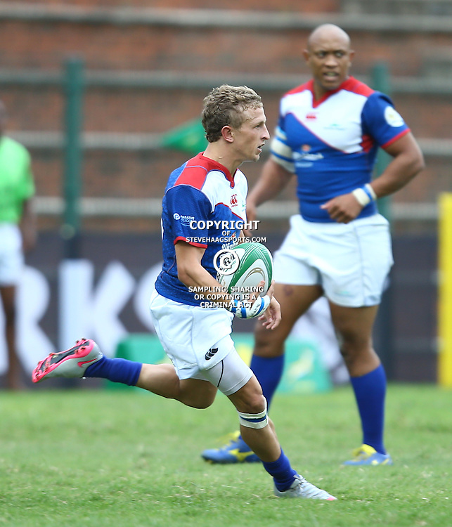DURBAN, SOUTH AFRICA - APRIL 23: Riaan van Zyl of the Windhoek Draught Welwitschias on attack during the Provincial Cup match between Cell C Sharks XV and Windhoek Draught Welwitschias at King Zwelithini Stadium on April 23, 2016 in Durban, South Africa. (Photo by Steve Haag/Gallo Images)