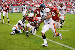 Virginia tight end Mikell Simpson (5) beats the NC State defense to score a touchdow.  The North Carolina State Wolfpack defeated the #15 Virginia Cavaliers 29-24 at Carter Finley Stadium in Raleigh, NC on October 27, 2007.