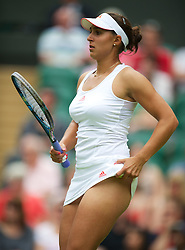 27.06.2012, Wimbledon, London, GBR, WTA, The Championships Wimbledon, im Bild Tamira Paszek (AUT) during the Ladies' Singles 1st Round match on day three of the WTA Tour Wimbledon Lawn Tennis Championships at the All England Lawn Tennis and Croquet Club, London, Great Britain on 2012/06/27. EXPA Pictures © 2012, PhotoCredit: EXPA/ Propagandaphoto/ David Rawcliff..***** ATTENTION - OUT OF ENG, GBR, UK *****