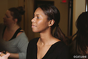 PROVIDENCE, RI - FEB 13: Muhsinah Muhammad backstage prior to the Stetkewicz show as part of StyleWeek NorthEast on February 13, 2015 in Providence, Rhode Island. (Photo by Cat Laine)