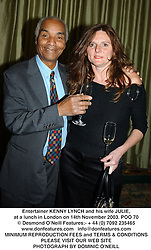 Entertainer KENNY LYNCH and his wife JULIE, at a lunch in London on 14th November 2003.POO 70