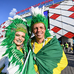 Fans of Brazil during the FIFA World Cup Group E match between Serbia and Brazil on June 27, 2018 in Moscow, Russia. (Photo by Anthony Dibon/Icon Sport)