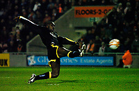 MATTHEW POVER PICTURE                                                +447971 184305<br /> <br /> 11/12/07 .... Blackpool v Cardiff<br /> Cardiff's Jimmy Floyd Hasselbaink misses another chance to score.