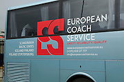 European Coach service bus in Bergen, Norway