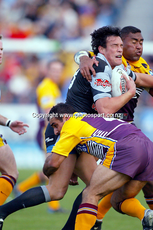 24 August 2003. NRL Round 24. Ericsson Stadium, Auckland, New Zealand. New Zealand Warriors v Brisbane Broncos.<br />