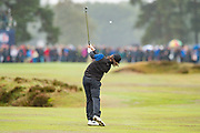 Tommy Fleetwood of England in action during the British Masters 2018 at Walton Heath Golf Course, Walton On the Hill, Surrey on 14 October 2018. Picture by Martin Cole.