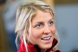 Therese Johaug at press conference of Norwegian team one day before FIS Cross Country World Cup Rogla 2011, on December 16, 2011 at Hotel Planja, Rogla, Slovenia. (Photo By Vid Ponikvar / Sportida.com)