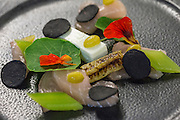 Next Generation Dinner Series @ Wills Domain. Margaret River. Friday 19 June 2015. Cured swordfish, cucumber, black rye and lemon.