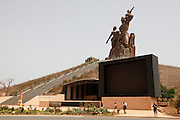 The African Renaissance Monument. Dakar the capital of Senegal...Picture by Zute Lightfoot .+44(0)75145390425