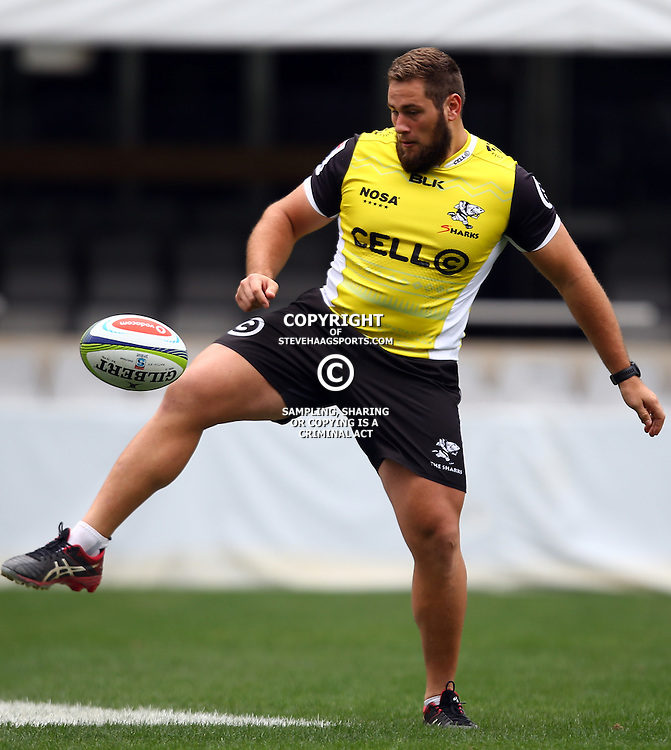 DURBAN, SOUTH AFRICA, 9 September, 2016 - Thomas du Toit during The Cell C Sharks Captains Run at Growthpoint Kings Park in Durban, South Africa. (Photo by Steve Haag)<br /> <br /> images for social media must have consent from Steve Haag