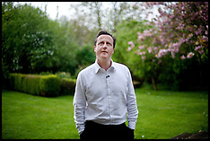 David Cameron in his back garden in Dean