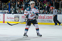 KELOWNA, CANADA - DECEMBER 30:  Cody Fowlie #18 of the Kelowna Rockets skates on the ice against the Everett Silvertips at the Kelowna Rockets on December 30, 2012 at Prospera Place in Kelowna, British Columbia, Canada (Photo by Marissa Baecker/Shoot the Breeze) *** Local Caption ***