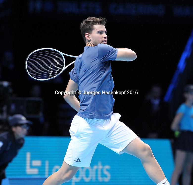 DOMINIC THIEM (AUT), ATP World Tour Finals, O2 Arena, London, England.<br /> <br /> Tennis - ATP World Tour Finals 2016 - ATP -  O2 Arena - London -  - Great Britain  - 17 November 2016. <br /> &copy; Juergen Hasenkopf/Grieves