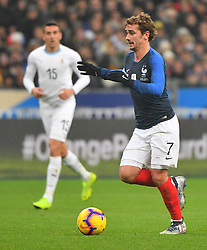 France's Antoine Griezmann during France v Uruguay friendly football match at the Stade de France in Saint-Denis, suburb of Paris, France on November 20, 2018. France won 1-0. Photo by Christian Liewig/ABACAPRESS.COM