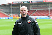 Walsall caretaker Manager Jon Whitney during the Sky Bet League 1 play-off second leg match between Walsall and Barnsley at the Banks's Stadium, Walsall, England on 19 May 2016. Photo by Dennis Goodwin.