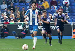 March 2, 2019 - Barcelona, Catalonia, Spain - Wu Lei during the match between RCD Espanyol and Valladolid CF, corresponding to the week 26 of the Liga Santander, played at the Camp Nou Stadium, on 02th March 2019, in Barcelona, Spain. Photo: Joan Valls/Urbanandsport /NurPhoto. (Credit Image: © Joan Valls/NurPhoto via ZUMA Press)
