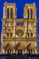 notre dame de paris in the city of Paris in france