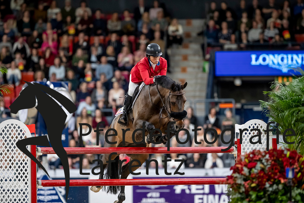 MADDEN Elizabeth (USA), Breitling LS <br /> Göteborg - Gothenburg Horse Show 2019 <br /> Longines FEI World Cup™ Final II - Jump-Off/Stechen<br /> Int. jumping competition with jump-off (1.50 - 1.60 m)<br /> Longines FEI Jumping World Cup™ Final and FEI Dressage World Cup™ Final<br /> 05. April 2019<br /> © www.sportfotos-lafrentz.de/Stefan Lafrentz