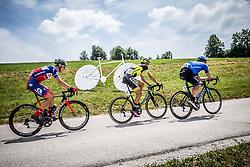 Gorazd Per (SLO) of KK Adria Mobil, Tomas Buchacek (CZE) of Elkov-Author Cycling team, Anton Vorobyev (RUS) of Gazprom-Rusvelo during Stage 2 of 24th Tour of Slovenia 2017 / Tour de Slovenie from Ljubljana to Ljubljana (169,9 km) cycling race on June 16, 2017 in Slovenia. Photo by Vid Ponikvar / Sportida
