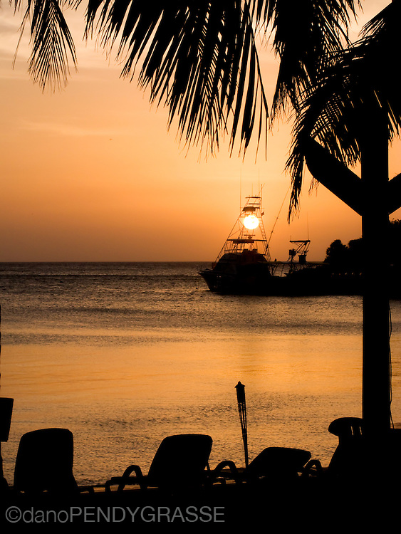 Sunset in West End, Roatan
