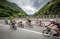 Peloton in Trbovlje during 3rd Stage of 25th Tour de Slovenie 2018 cycling race between Slovenske Konjice and Celje (175,7 km), on June 15, 2018 in  Slovenia. Photo by Vid Ponikvar / Sportida