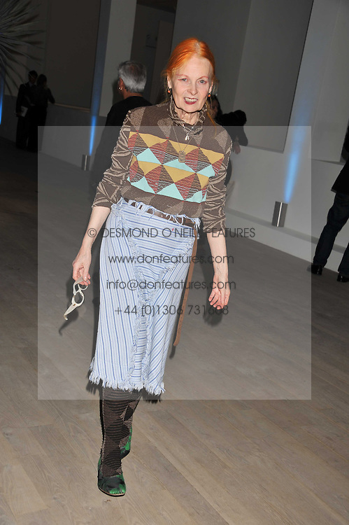 DAME VIVIENNE WESTWOOD at Arts for Human Rights gala dinner in aid of The Bianca Jagger Human Rights Foundation in association with Swarovski held at Phillips de Pury & Company, Howick Place, London on 13th October 2011.