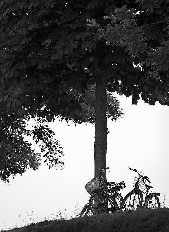 "Black and white photography.Bicycles in Lucca Italy by Karl R Lilliendahl photographer.Available as open edition and limited edition giclee print in four sizes. Click on ""Get Print"" to see more details."