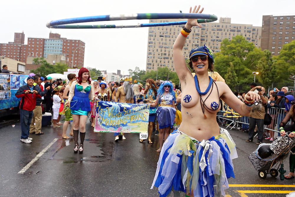 33rd annual Mermaid Parade in Coney Island, Brooklyn, June 20, 2015.