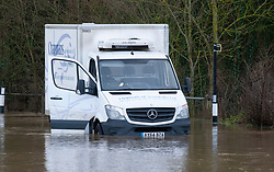 ©Licensed to London News Pictures 21/12/2019. <br /> Yalding ,UK.  Flood water 3ft high in parts on the Lees Road, Yalding.  The River Medway in Yalding, Kent has bursts its banks causing severe flooding to the village.   Photo credit: Grant Falvey/LNP