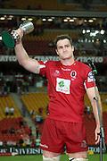 Reds captain James Horwill. Queensland Reds v NSW Waratahs. Investec Super Rugby Round 10 Match, 24 April 2011. Suncorp Stadium, Brisbane, Australia. Reds won 19-15. Photo: Clay Cross / photosport.co.nz