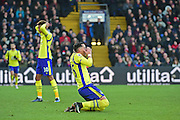 Everton Defender Ramiro Funes Mori misses a chance during the Premier League match between Crystal Palace and Everton at Selhurst Park, London, England on 21 January 2017. Photo by Jon Bromley.