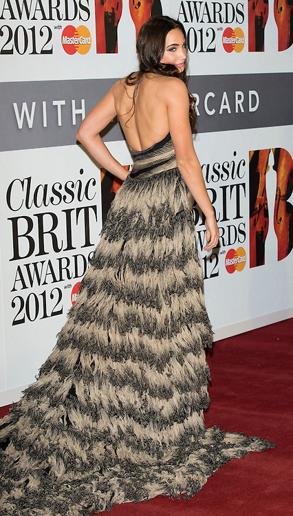 Laura Wright arriving at the 2012 Classic Brit Awards at the Royal Albert Hall in London.