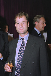 VISCOUNT CHELSEA at a party in London on 16th September 1997.  MBE 49 WO