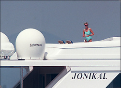 File photo of Lady Diana, Princess of Wales, with boyfriend Dodi Al Fayed spending their summer holiday in Saint-Tropez, south of France, on August 22, 1997. Princess Diana died on August 31, 1997 after suffering fatal injuries in a car crash in the Pont de l'Alma road tunnel in Paris. Her companion Dodi Fayed and driver and security guard Henri Paul were also killed in the crash. Photo by ABACAPRESS.COM  Diana of Wales Princesse Diana Princesse de Galles Diana de Galles Princess Diana of Wales Princess Diana Lady Dian Lady Diana Lady Di Princesse Diana de Galles Princess of Wales  | 594950_025 Saint-Tropez France